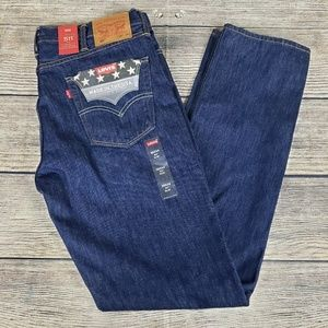 Levi's 511 Slim Fit Mens 38x34 White Oak Cone USA